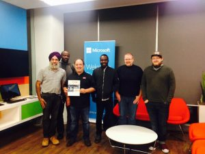 Kulbir Singh at Microsoft Canada sharing his IT magazine, IT Quip