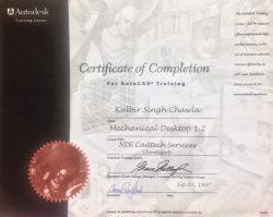 Autodesk Certification Kulbir Singh