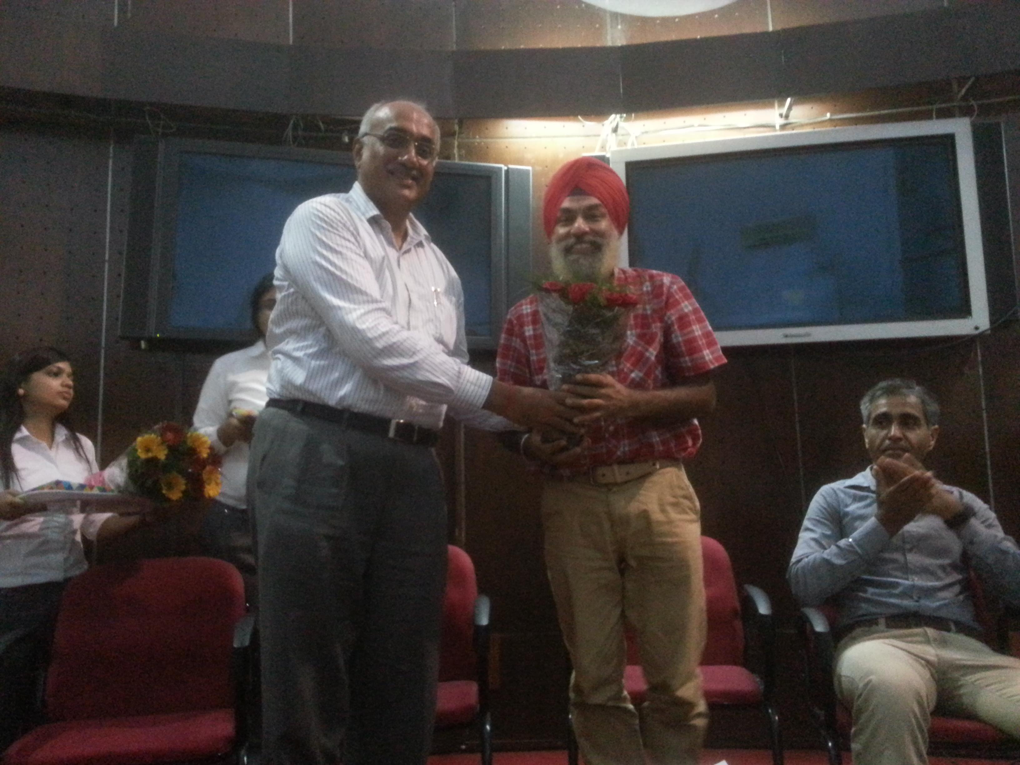 Lecture at University Business School PU Chandigarh Aug 1, 2016