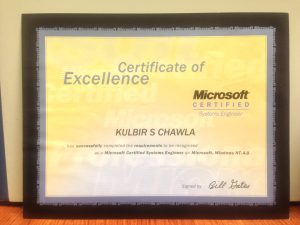 Microsoft Certified Systems Engineer Kulbir Singh