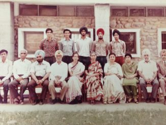 Kulbir Singh (Standing extreme right) in Central Association Govt College Chandigarh 1984-85