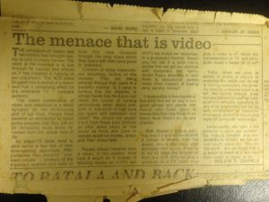 The menace that is video - An article by Kulbir Singh Chawla