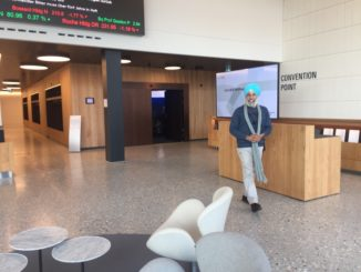 Kulbir at Switzerland Finance Museum, Zurich