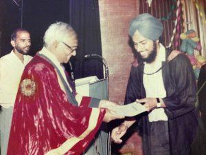 Kulbir Singh PEC Graduation 1989