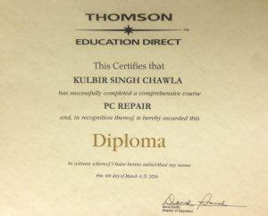 PC-Repair Diploma Kulbir Singh