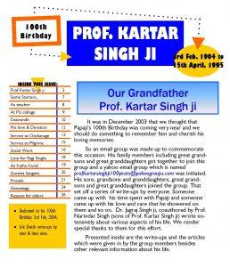prof-kartar-singh-ji-100-years