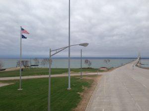 USA- Canada border at the Great Lakes