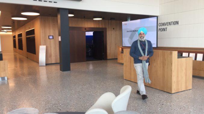 Kulbir at Switzerland Finance Museum, Zurich