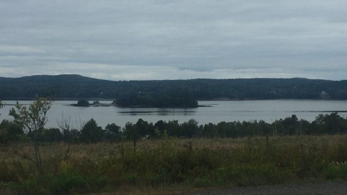 St Croix Island, Bay of Fundy, Canada - USA border